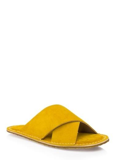 Pier Lucci Hakiki Deri Terlik Sarı
